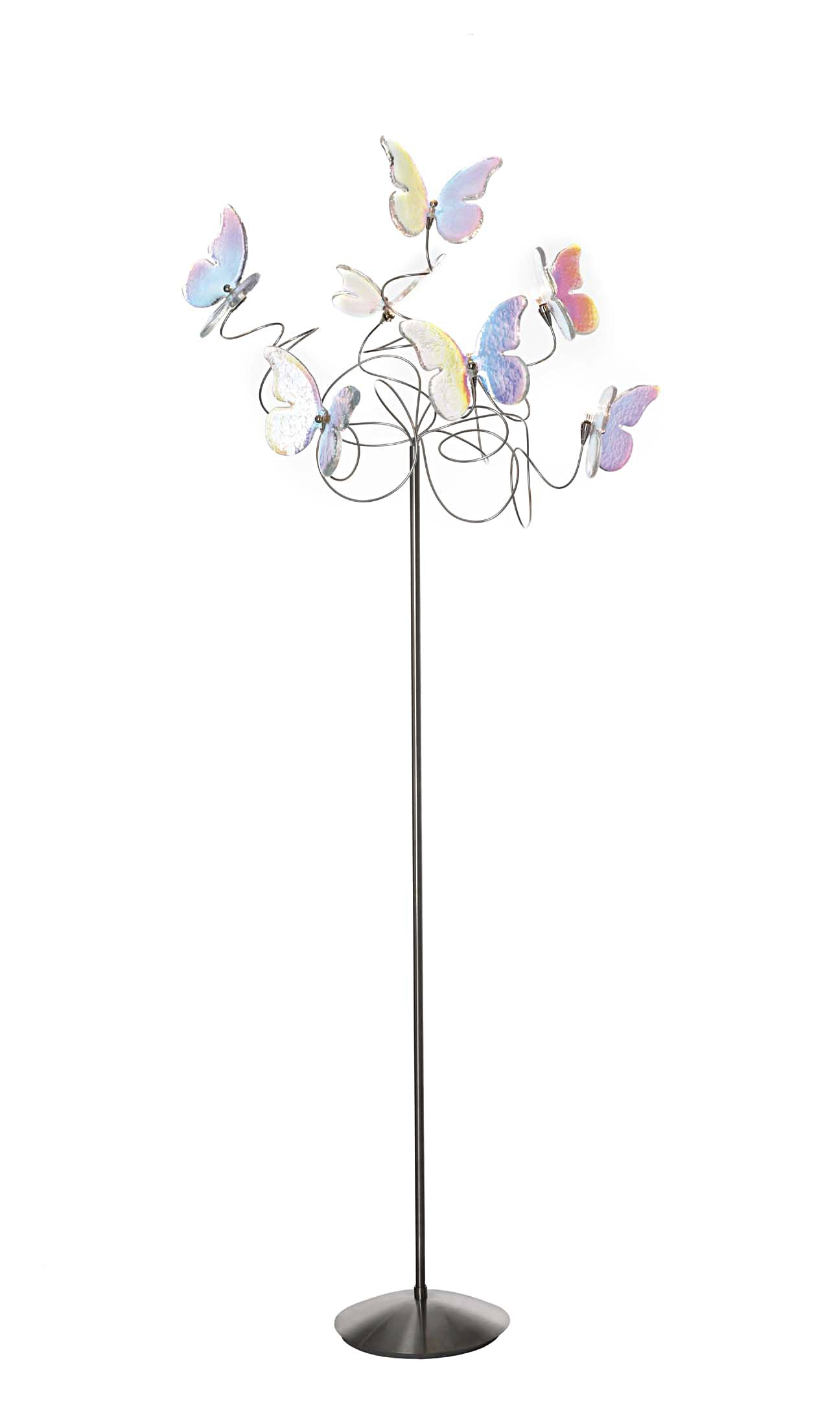Papillon multicoloured 7-light standard lamp. Harco Loor.