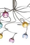 Colorball plafonnier 12 lumières en verre multicolore. Harco Loor.