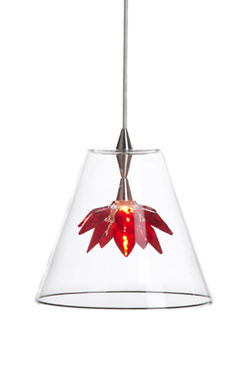 Flower suspension fleur rouge. Harco Loor.