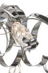 Guirlande Plafonnier 10 lumières finition métal brillant. Harco Loor.