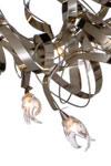 Guirlande Suspension ovale 20 lumières finition métal brossé-mat. Harco Loor.
