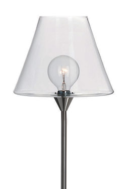 Jelly lampadaire Large en verre transparent. Harco Loor.