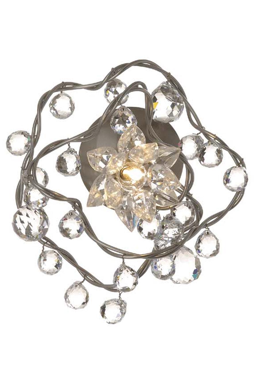 Jewel Diamond applique 1 lumière transparente en verre transparent. Harco Loor.
