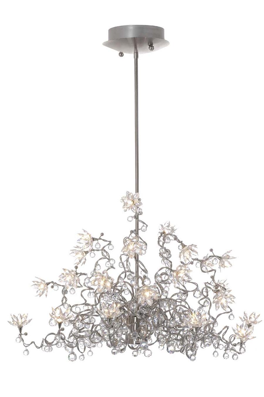 jewel diamond lustre transparent chandelier 24 lumi res en verre transparent harco loor. Black Bedroom Furniture Sets. Home Design Ideas