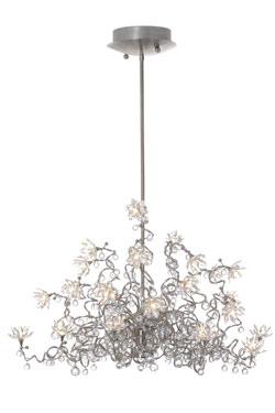 Jewel Diamond Lustre transparent Chandelier 24 lumières en verre transparent. Harco Loor.