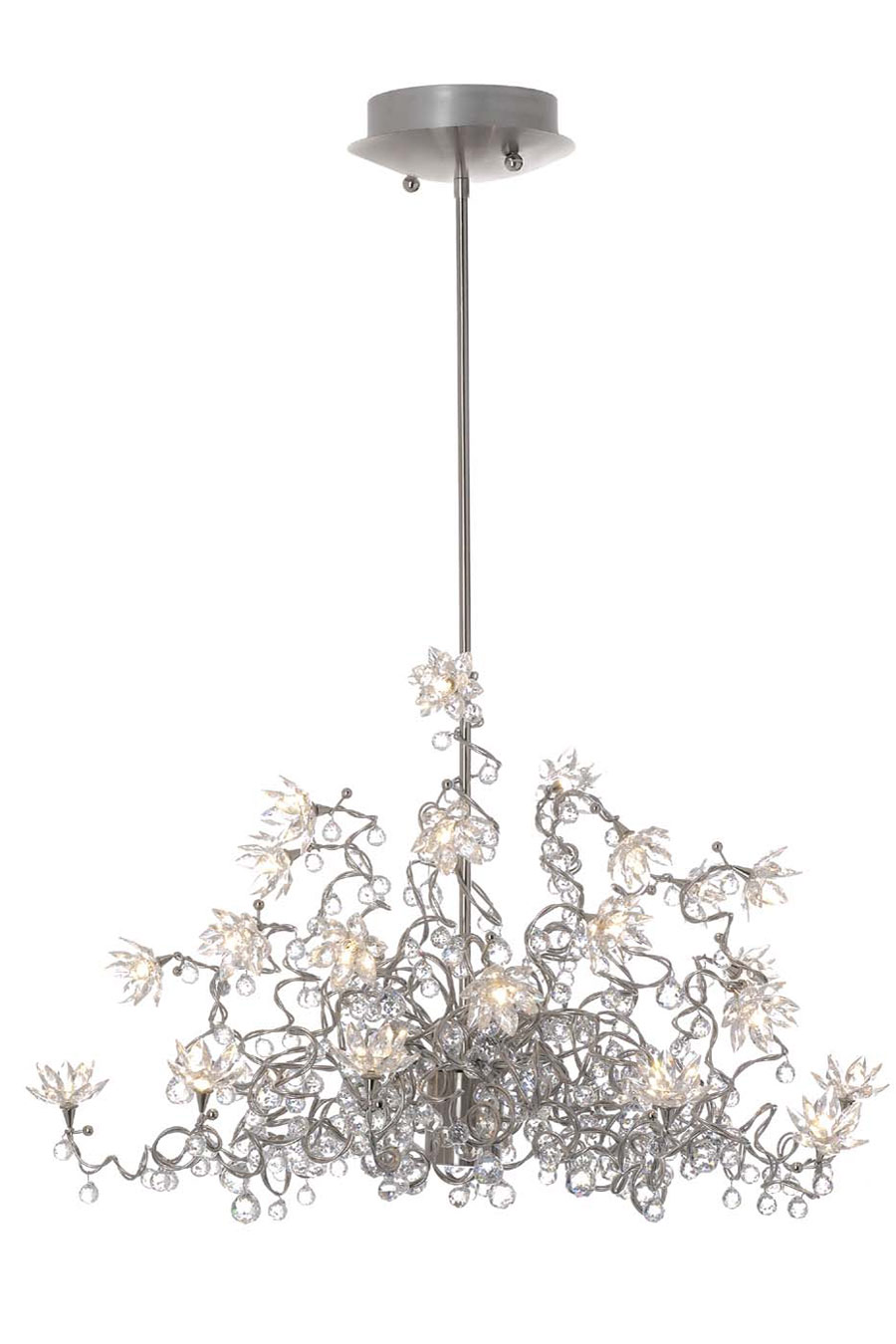 Jewel Diamond Lustre transparent Chandelier 24 lumières en verre transparent. Harco Loor.
