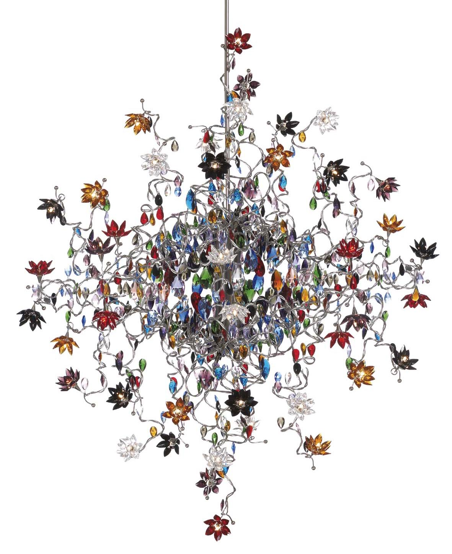 jewel lustre en verre multicolore 48 lumi res harco loor luminaires en verre et cristal. Black Bedroom Furniture Sets. Home Design Ideas