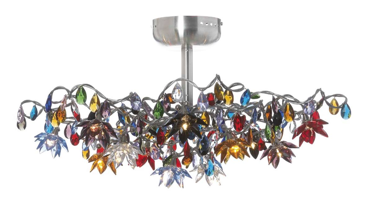 Jewel plafonnier multicolore 12 lumières. Harco Loor.