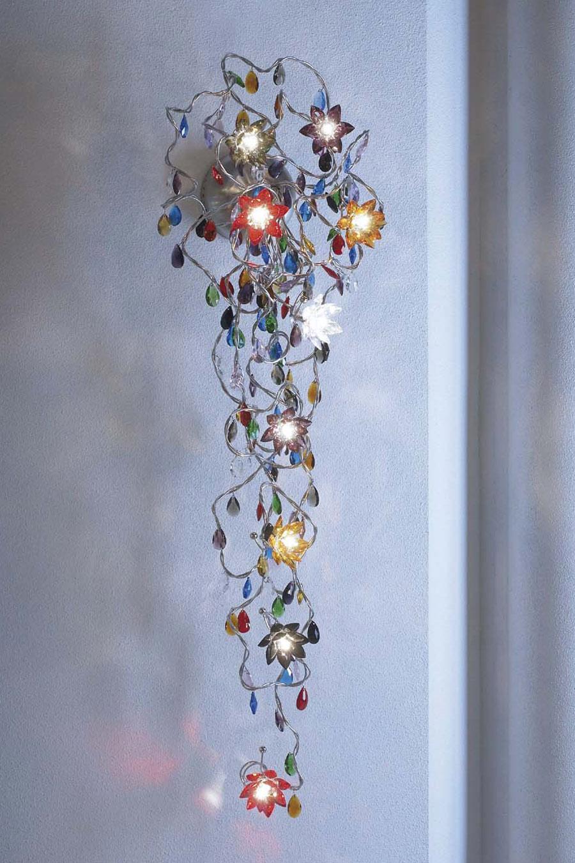 jewel long applique 9 lumi res multicolore harco loor luminaires en verre et cristal r f. Black Bedroom Furniture Sets. Home Design Ideas