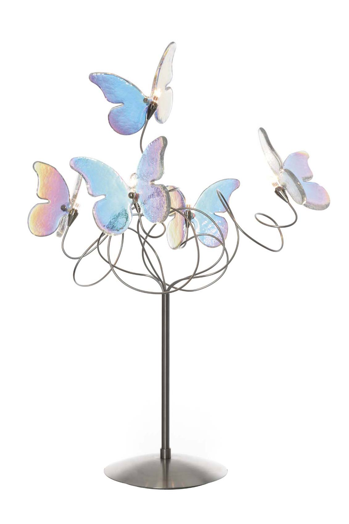 papillon multicolore lampe en verre iris 5 lumi res. Black Bedroom Furniture Sets. Home Design Ideas
