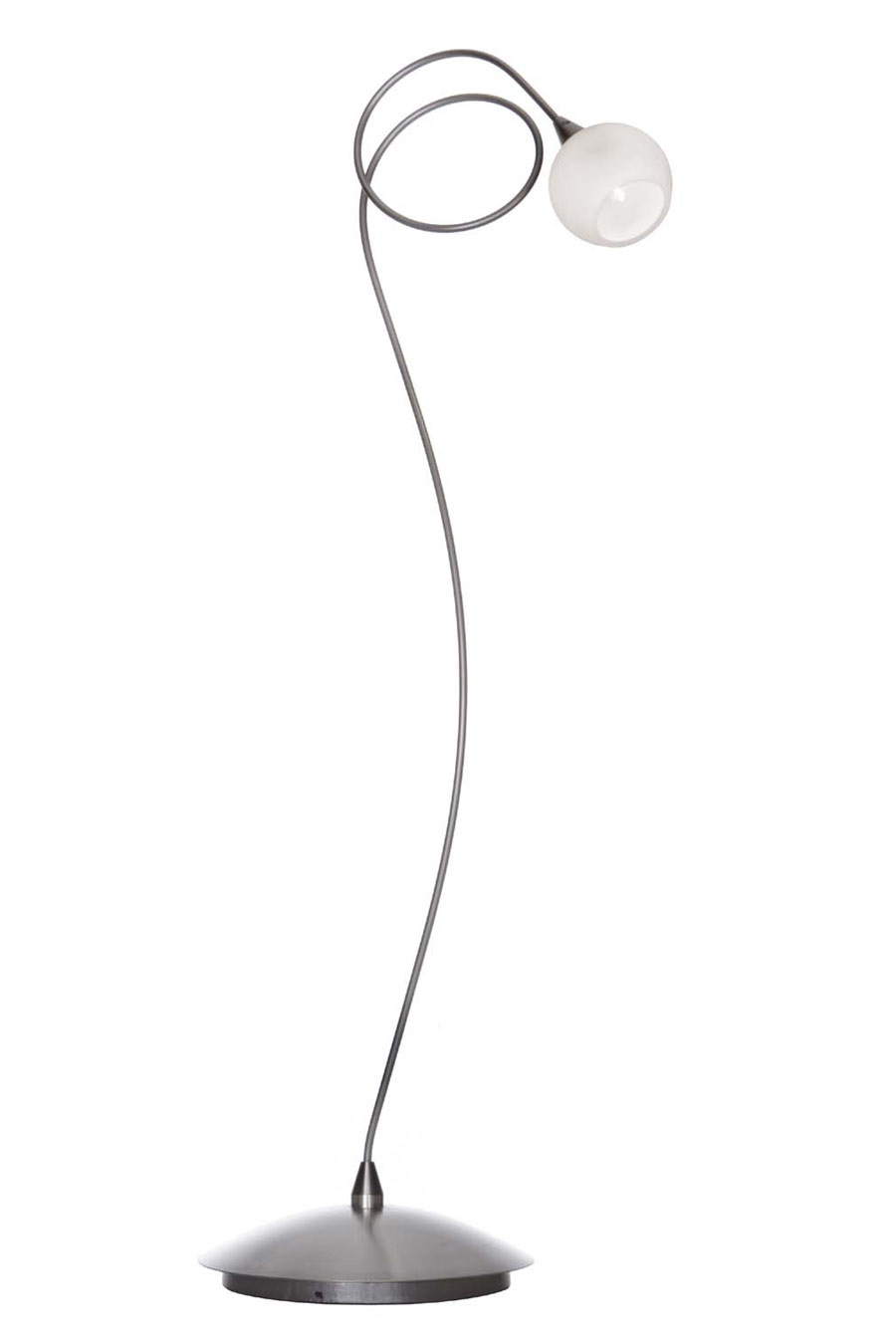 snowball lampe de table 1 lumi re boule blanche en verre harco loor luminaires en verre et. Black Bedroom Furniture Sets. Home Design Ideas