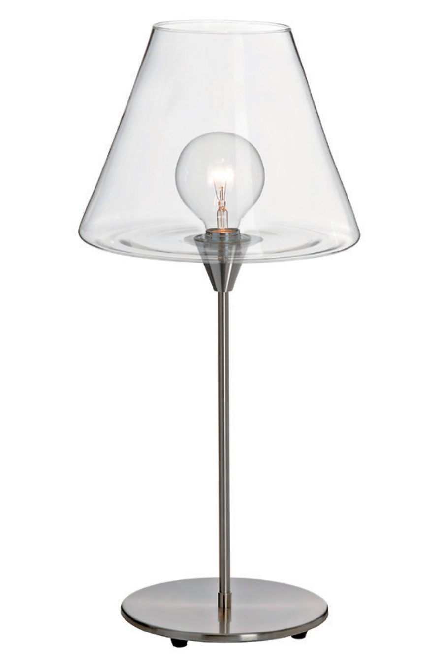 Designer Table Lamp With Clear Glass