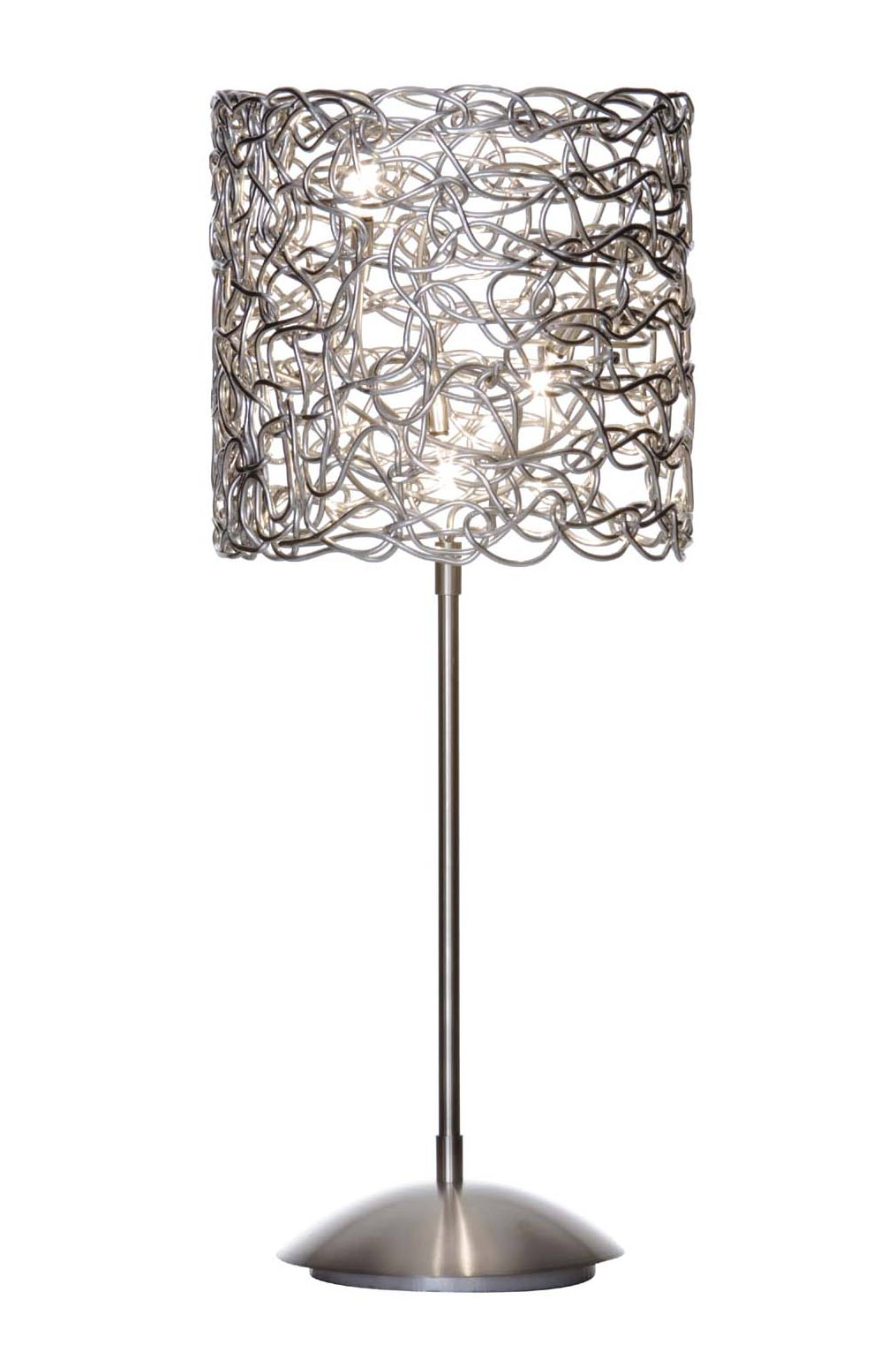 Shade table lamp in aluminium wire harco loor glass and shade table lamp in aluminium wire harco loor greentooth Gallery