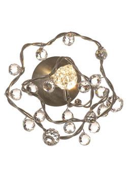 Tiara Diamond applique 1 lumière transparente en verre transparent. Harco Loor.