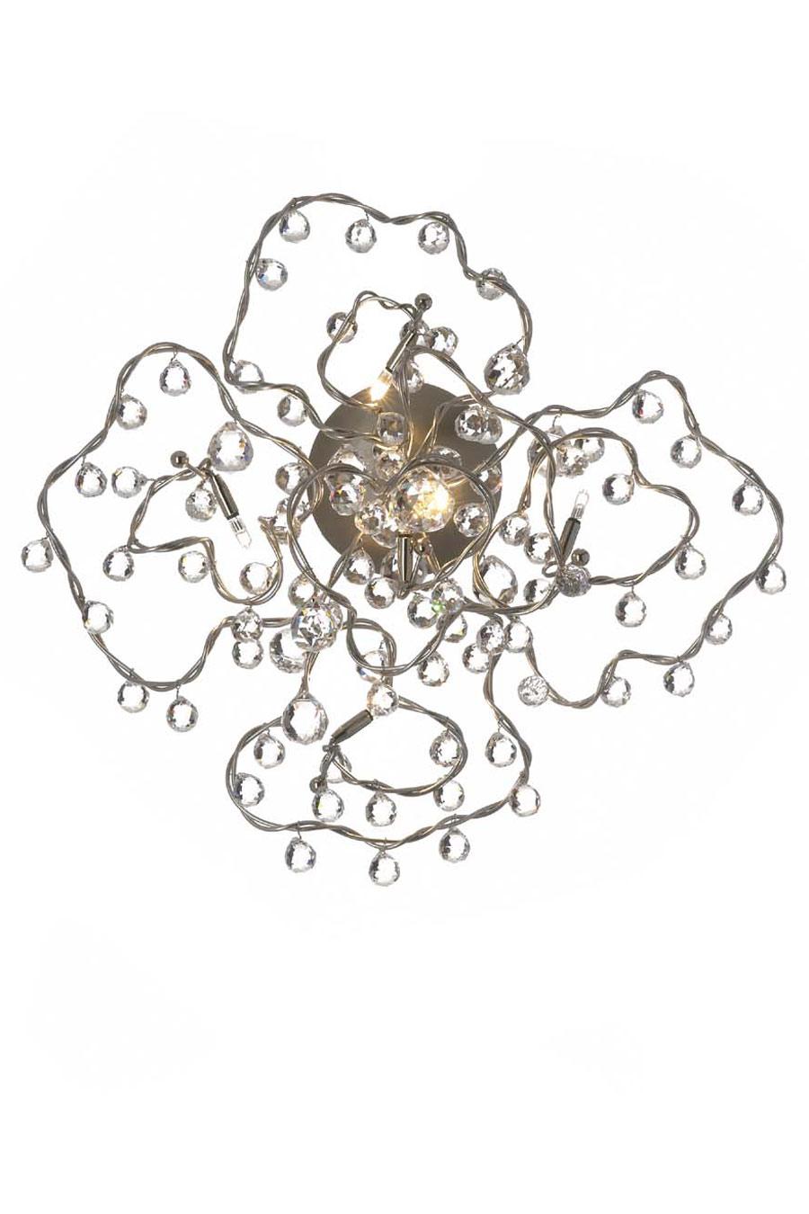 Tiara Diamond applique 5 lumières en verre transparent. Harco Loor.