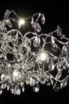 Tiara ovale lustre 24 lumières transparent  en verre taillé. Harco Loor.