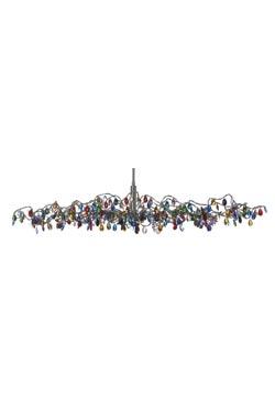 Tiara ovale multicolore  en verre15 lumières. Harco Loor.