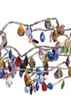 Tiara ovale plafonnier 15 lumières multicolore. Harco Loor.