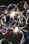 Tiara Plafonnier 15 lumières en verre taillé multicolore. Harco Loor.
