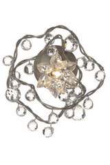 Jewel Diamond single clear glass wall light  . Harco Loor.