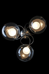 Riddle triple wall light in clear glass. Harco Loor.