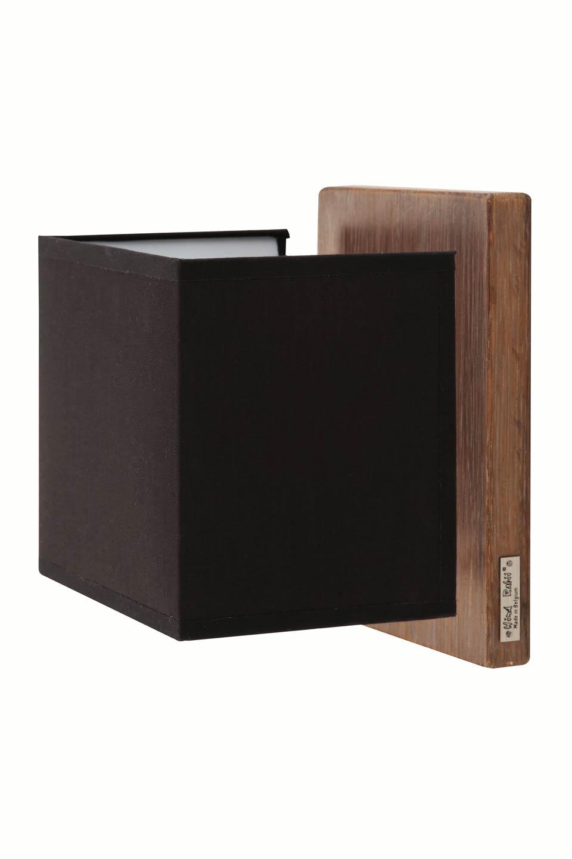 applique en ch ne c rus abat jour carr hind rabii. Black Bedroom Furniture Sets. Home Design Ideas