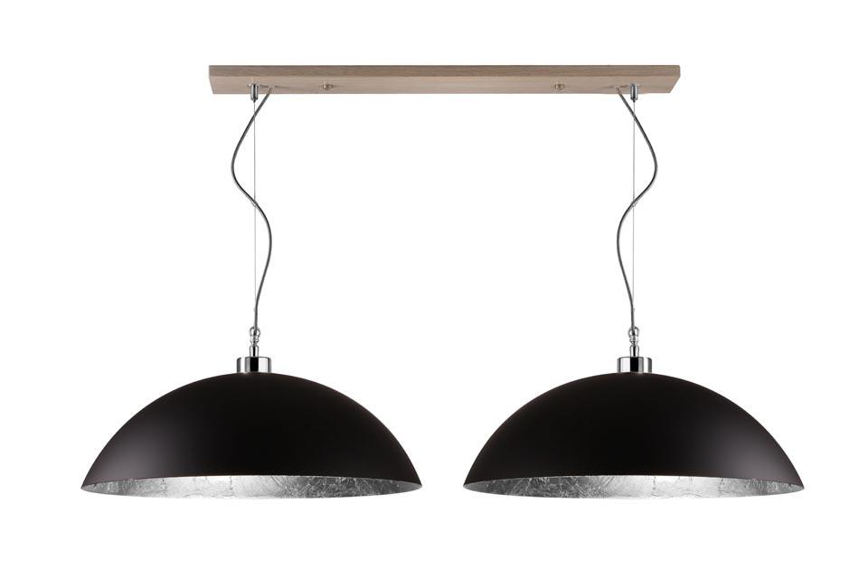suspension double en m tal noir mat hind rabii luminaires fabriqu s en belgique r f 15120110. Black Bedroom Furniture Sets. Home Design Ideas