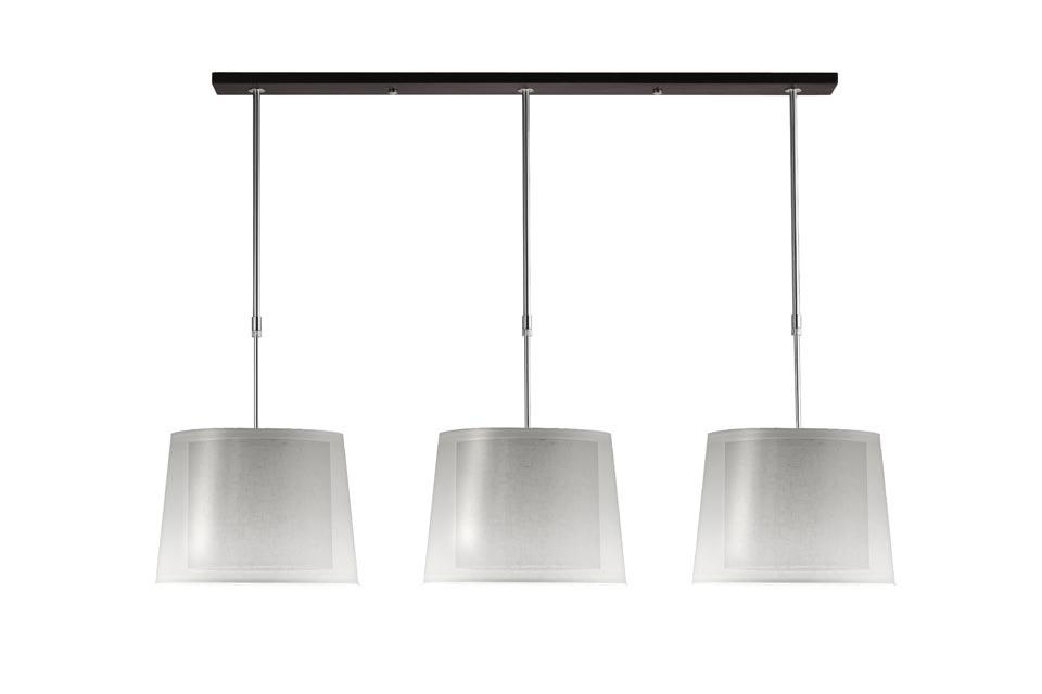 suspension illusion blanc abat jour en tissu chintz translucide hind rabii luminaires. Black Bedroom Furniture Sets. Home Design Ideas