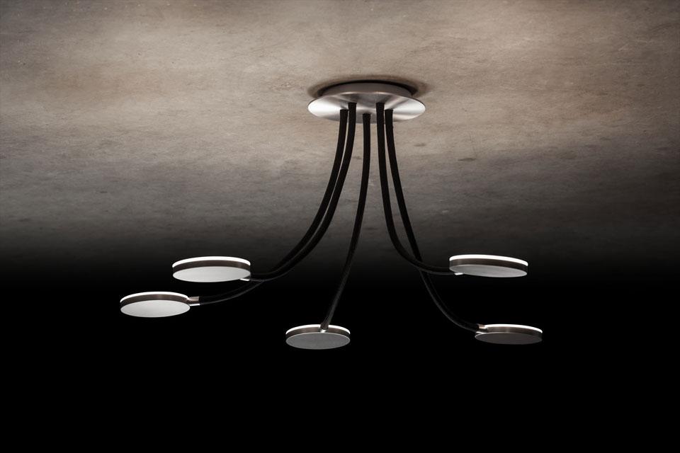 flex plafonnier led 5 lumi res noir holtk tter luminaire allemand haut de gamme r f 18030017. Black Bedroom Furniture Sets. Home Design Ideas