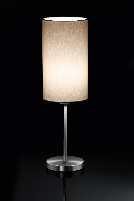 Lampe de table sable en nickel mat. Holtkötter.