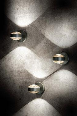 Lence applique forme lentille métal platine. Holtkötter.