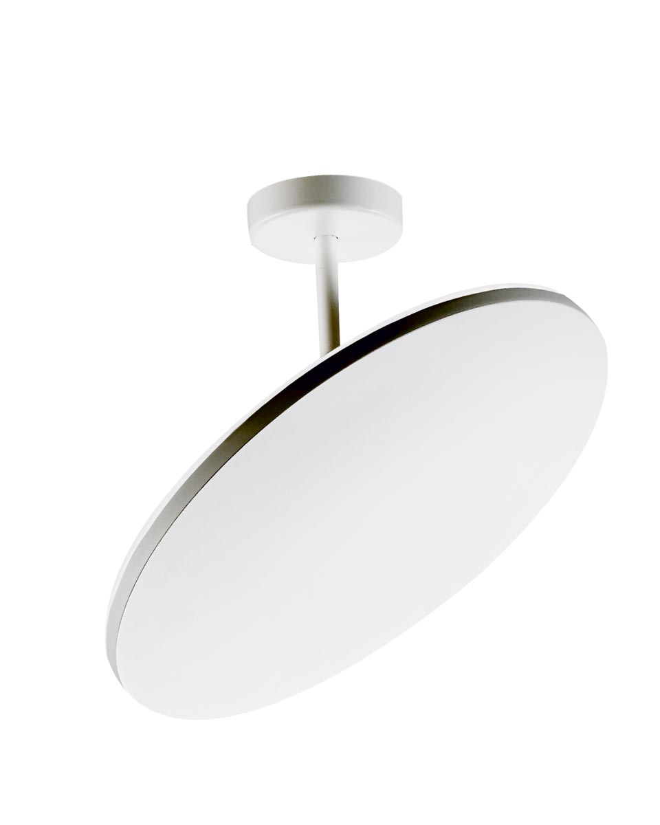 plafonnier plano dr en m tal blanc clairage indirect holtk tter luminaire allemand haut. Black Bedroom Furniture Sets. Home Design Ideas