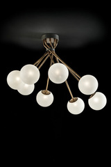 Large design ceiling lamp 8 glass balls TEA. Italamp.