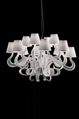 12 lights transparent glass chandelier BOA. Italamp.