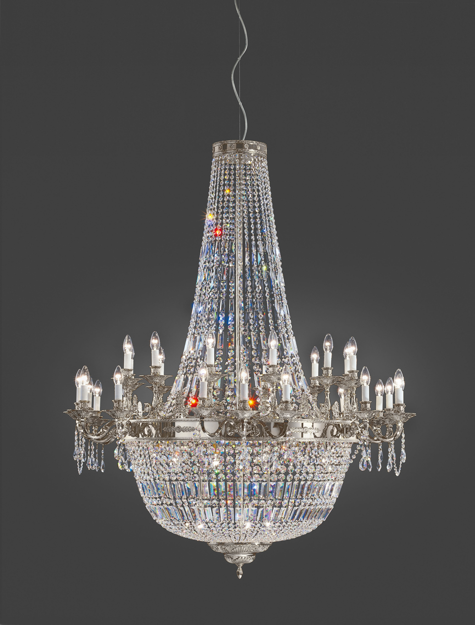 8 R 10 8 Light Crystal Chandelier With Swarovski 26 X 31 King S Chandelier Co