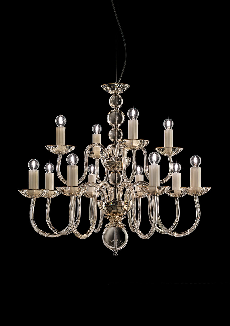 Image of: Contemporary Chandelier 12 Lights 2 Stages Italamp Lustre Classic And Contemporary Chandelier Ref 18050004
