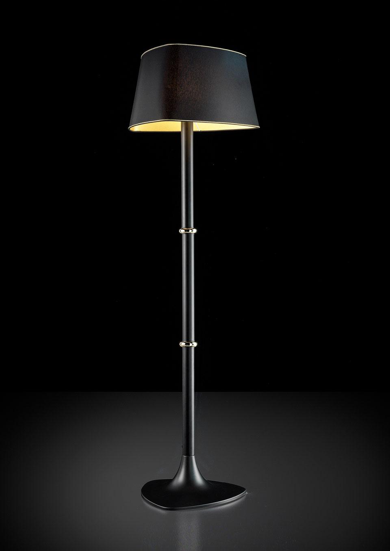Gold Floor Lamp With Matte Black Metal