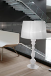 Floor lamp large table lamp style white opal blown glass ETVOILA. Italamp.
