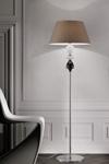 Lampadaire classique en métal et détails en cristal sculpté AMELIE. Italamp.