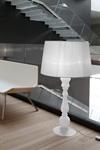 Lampadaire style grande lampe en verre soufflé opale blanc ETVOILA. Italamp.
