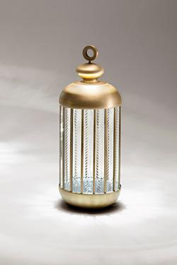 Lampe lanterne en bronze doré Fata Morgana petit modèle. Italamp.