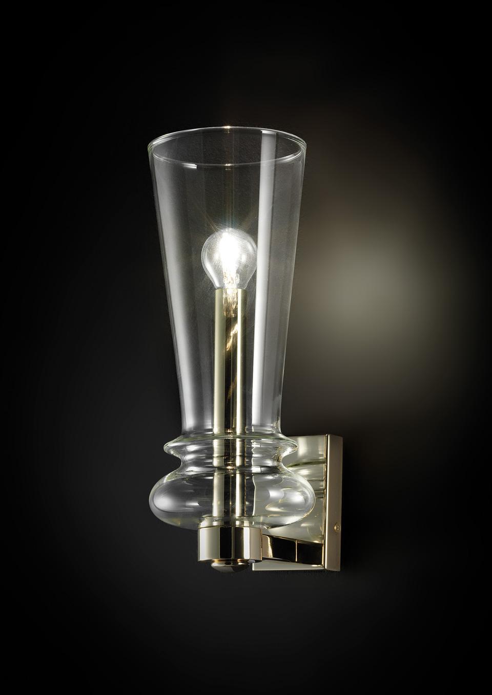 Licio applique en verre et métal doré poli. Italamp.