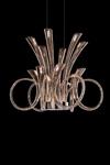 Lustre éclairage LED cornes d'abondance de verre soufflé Pulsa. Italamp.
