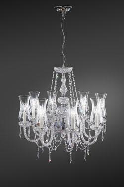 Lustre en cristal et pampilles Swarovski transparent. Italamp.