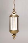 Suspension lanterne bronze doré Fata Morgana petit modèle . Italamp.