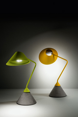 Flamingo acid green table lamp. Italamp.