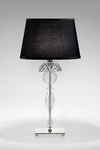 Vogue crystal and clear blown glass table lamp . Italamp.