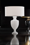 White carved crystal table lamp. Italamp.
