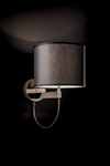 Lily gold metal and cylindrical shade wall lamp. Italamp.