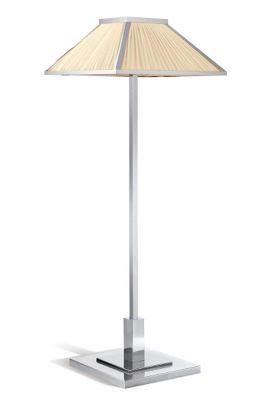 beverly liseuse chrome abat jour en soie ivoire jacques garcia dit par zonca r f 13090449. Black Bedroom Furniture Sets. Home Design Ideas